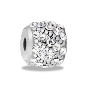 Silver & Crystal Orb Bead for DaVinci Inspirations® Jewelry