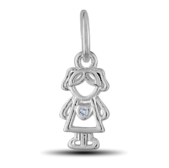 April Boy Charm by The DaVinci® Heart of Family Collection