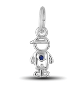 September Boy Charm by The DaVinci® Heart of Family Collection
