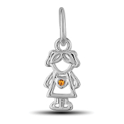 November Girl Charm by The DaVinci® Heart of Family Collection