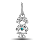 December Girl Charm by The DaVinci® Heart of Family Collection