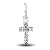 Cross (Crystal) Charm by The DaVinci® Heart of Family Collection