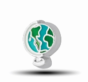 World Globe Charm for Floating Keepsake Lockets