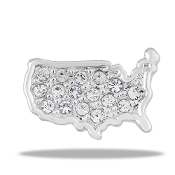 Lower 48 USA Large Charm for Keepsake Lockets