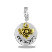 BE HAPPY Drop Accessory by Forever In My Heart® Lockets