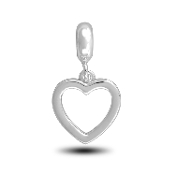 Plain Heart Photo Charm for Beaded Jewelry