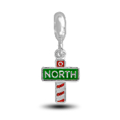 North Pole Sign Charm for Beaded Jewelry