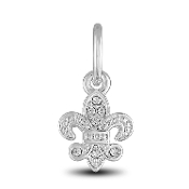 Fleur De Lis Charm Bead for DaVinci Inspirations® Jewelry