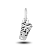 Coffee Cup Charm Bead for DaVinci Inspirations® Jewelry
