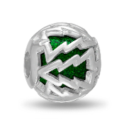 Green Christmas Tree Cut Out Bead For The DaVinci Collection