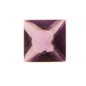 2- February Square Crystal Birthstone Charm