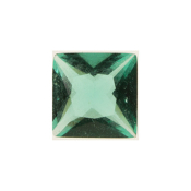 5- May Square Crystal Birthstone Charm