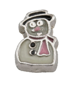 Snowman Charm for Floating Oragami Owl Type Lockets