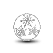 Snowflake Background Disc for Forever in My Heart Charm Lockets
