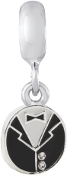 Tuxedo GROOM Dangle Bead For The DaVinci Collection