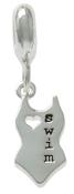 SWIM Swimsuit Dangle Charm Bead For The DaVinci Collection